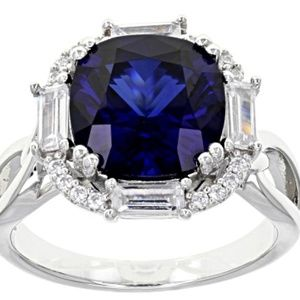 Blue Sapphire 5.03ctw(lab created)  .925 sterling